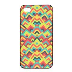 Trendy Chic Modern Chevron Pattern Apple Iphone 4/4s Seamless Case (black)