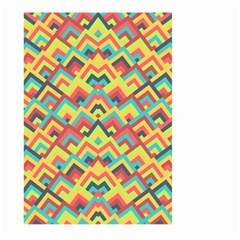 Trendy Chic Modern Chevron Pattern Large Garden Flag (Two Sides)