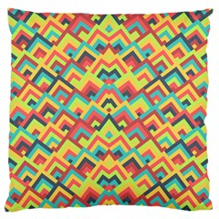 Trendy Chic Modern Chevron Pattern Large Flano Cushion Cases (two Sides)