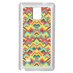 Trendy Chic Modern Chevron Pattern Samsung Galaxy Note 4 Case (White)