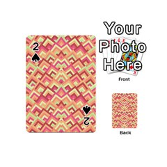 Trendy Chic Modern Chevron Pattern Playing Cards 54 (Mini)