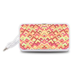 Trendy Chic Modern Chevron Pattern Portable Speaker (White)