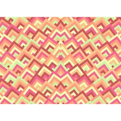 Trendy Chic Modern Chevron Pattern Birthday Cake 3D Greeting Card (7x5)
