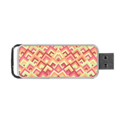 Trendy Chic Modern Chevron Pattern Portable USB Flash (Two Sides)
