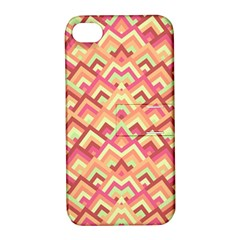 Trendy Chic Modern Chevron Pattern Apple Iphone 4/4s Hardshell Case With Stand