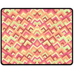 Trendy Chic Modern Chevron Pattern Double Sided Fleece Blanket (Medium)