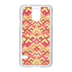 Trendy Chic Modern Chevron Pattern Samsung Galaxy S5 Case (White)