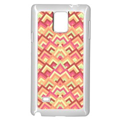 Trendy Chic Modern Chevron Pattern Samsung Galaxy Note 4 Case (white)