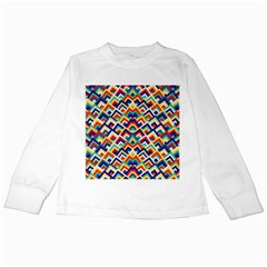 Trendy Chic Modern Chevron Pattern Kids Long Sleeve T-Shirts