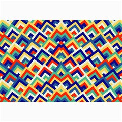 Trendy Chic Modern Chevron Pattern Collage 12  X 18