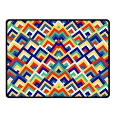 Trendy Chic Modern Chevron Pattern Fleece Blanket (Small)