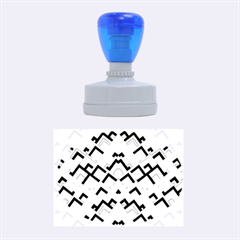 Trendy Chic Modern Chevron Pattern Rubber Oval Stamps