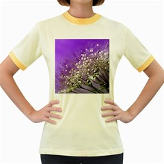 Dandelion 2015 0706 Women s Fitted Ringer T-Shirts