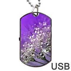 Dandelion 2015 0706 Dog Tag USB Flash (Two Sides)