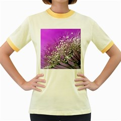 Dandelion 2015 0707 Women s Fitted Ringer T-Shirts