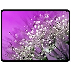 Dandelion 2015 0707 Double Sided Fleece Blanket (large)
