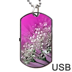 Dandelion 2015 0708 Dog Tag USB Flash (One Side)