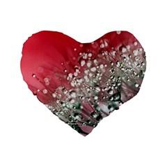 Dandelion 2015 0710 Standard 16  Premium Flano Heart Shape Cushions