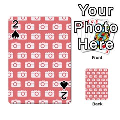 Modern Chic Vector Camera Illustration Pattern Playing Cards 54 Designs