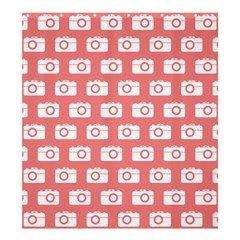 Modern Chic Vector Camera Illustration Pattern Shower Curtain 66  x 72  (Large)