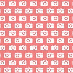 Modern Chic Vector Camera Illustration Pattern Magic Photo Cubes