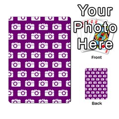 Modern Chic Vector Camera Illustration Pattern Multi Purpose Cards (rectangle)