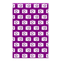 Modern Chic Vector Camera Illustration Pattern Shower Curtain 48  X 72  (small)