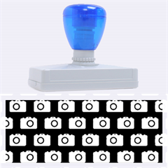 Modern Chic Vector Camera Illustration Pattern Rubber Address Stamps (XL)