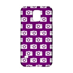 Modern Chic Vector Camera Illustration Pattern Samsung Galaxy S5 Hardshell Case