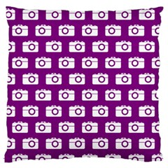Modern Chic Vector Camera Illustration Pattern Large Flano Cushion Cases (one Side)