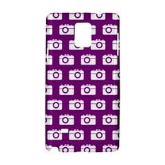 Modern Chic Vector Camera Illustration Pattern Samsung Galaxy Note 4 Hardshell Case