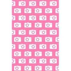 Pink Modern Chic Vector Camera Illustration Pattern 5.5  x 8.5  Notebooks