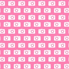 Pink Modern Chic Vector Camera Illustration Pattern Magic Photo Cubes