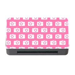 Pink Modern Chic Vector Camera Illustration Pattern Memory Card Reader With Cf