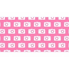 Pink Modern Chic Vector Camera Illustration Pattern YOU ARE INVITED 3D Greeting Card (8x4)