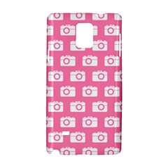 Pink Modern Chic Vector Camera Illustration Pattern Samsung Galaxy Note 4 Hardshell Case