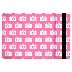 Pink Modern Chic Vector Camera Illustration Pattern iPad Air 2 Flip