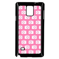 Pink Modern Chic Vector Camera Illustration Pattern Samsung Galaxy Note 4 Case (Black)
