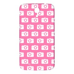 Pink Modern Chic Vector Camera Illustration Pattern Samsung Galaxy Mega I9200 Hardshell Back Case