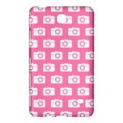 Pink Modern Chic Vector Camera Illustration Pattern Samsung Galaxy Tab 4 (7 ) Hardshell Case