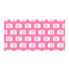 Pink Modern Chic Vector Camera Illustration Pattern Satin Wrap