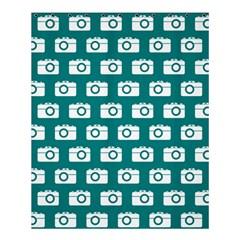 Modern Chic Vector Camera Illustration Pattern Shower Curtain 60  x 72  (Medium)