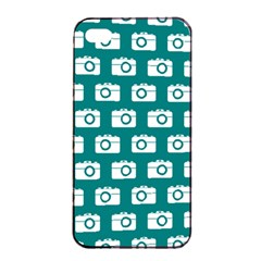 Modern Chic Vector Camera Illustration Pattern Apple iPhone 4/4s Seamless Case (Black)