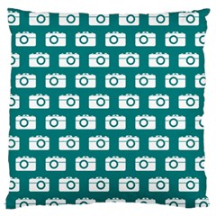 Modern Chic Vector Camera Illustration Pattern Standard Flano Cushion Cases (one Side)