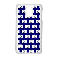 Modern Chic Vector Camera Illustration Pattern Samsung Galaxy S5 Case (white)