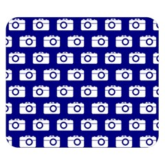 Modern Chic Vector Camera Illustration Pattern Double Sided Flano Blanket (Small)