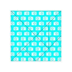 Modern Chic Vector Camera Illustration Pattern Acrylic Tangram Puzzle (4  x 4 )