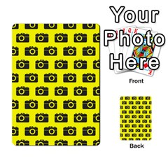 Modern Chic Vector Camera Illustration Pattern Multi-purpose Cards (Rectangle)