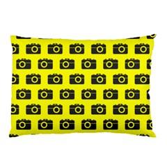 Modern Chic Vector Camera Illustration Pattern Pillow Cases