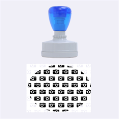 Modern Chic Vector Camera Illustration Pattern Rubber Oval Stamps